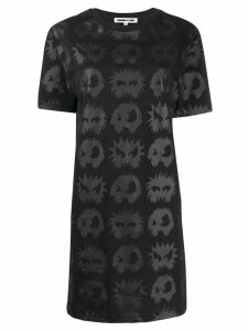 McQ Alexander McQueen angry eyes T-shirt dress - Black