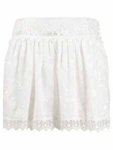 Alexis Bello lace skirt - White