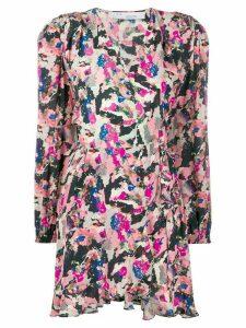 IRO Bloomy LS print dress - Pink