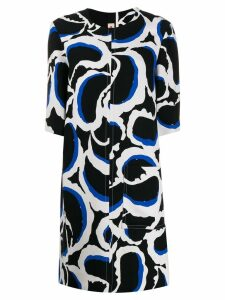 Marni patterned shift dress - Black