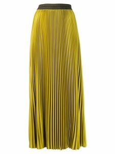 Luisa Cerano Long pleated skirt - Yellow