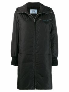 Prada padded hooded coat - Black
