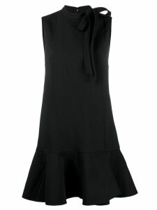 Valentino bow-neck flared dress - Black
