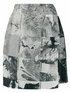 Raeburn Womens Silk NASA skirt - Grey
