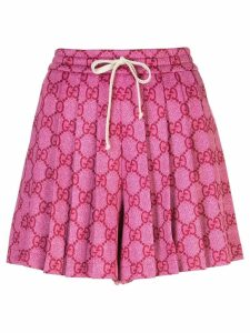 Gucci GG Supreme pleated skirt - Pink