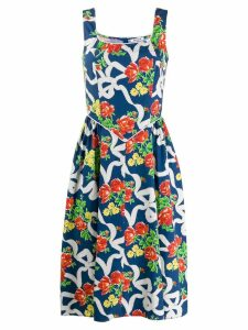 Batsheva floral day dress - Blue