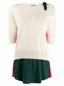 Sueundercover colour block sweater - Neutrals