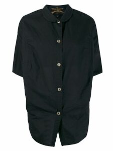 Vivienne Westwood Anglomania draped button shirt - Black