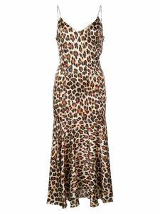 Caroline Constas leopard print slip dress - Brown