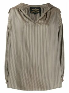 Vivienne Westwood Anglomania striped shirt - Brown