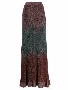 M Missoni metallic-effect high-waisted skirt - Pink