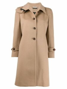 Miu Miu button detail coat - Neutrals