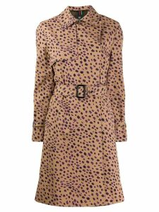PS Paul Smith cheetah print trench coat - Brown