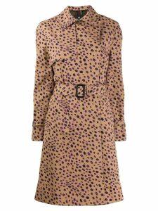 PS Paul Smith cheetah print trench coat - Brown