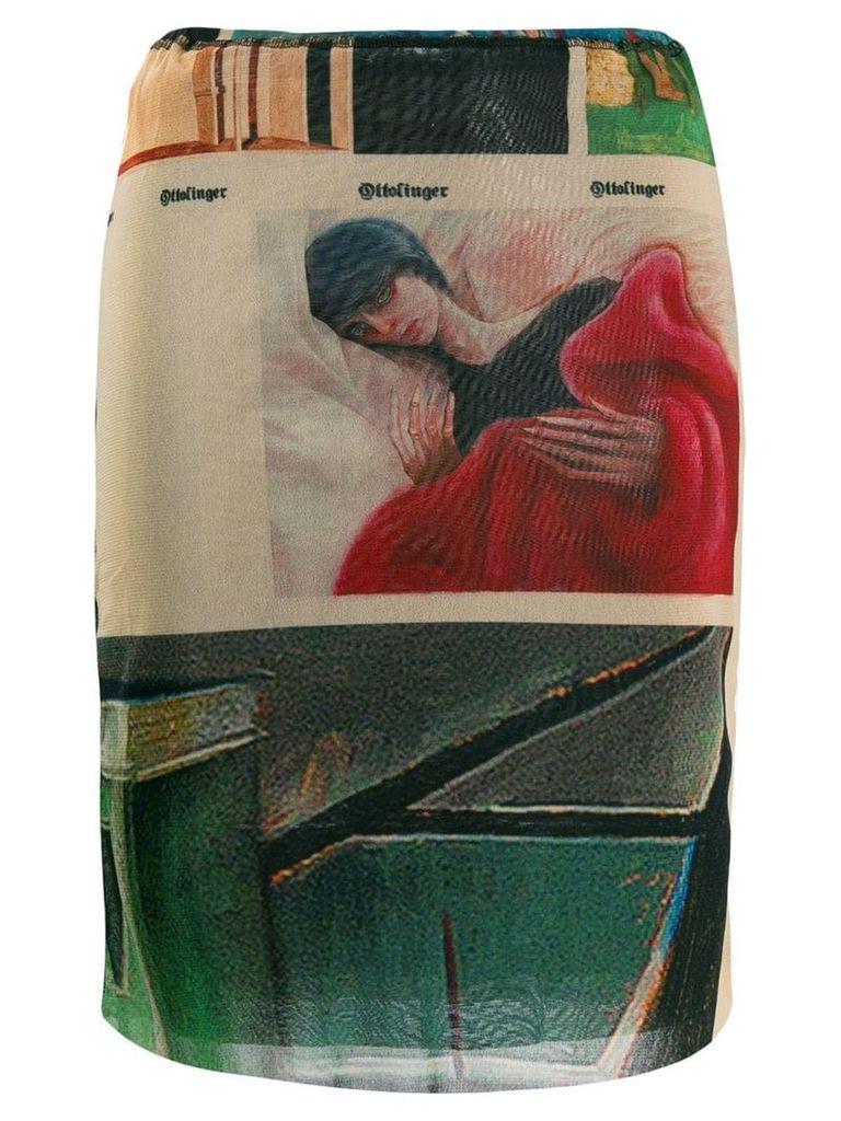 Ottolinger short mesh skirt - Brown