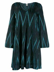 M Missoni zig-zag pattern short dress - Blue