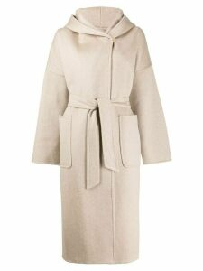 Max Mara hooded wrap coat - Brown