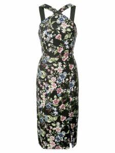 Aidan Mattox crossover strap dress - Black