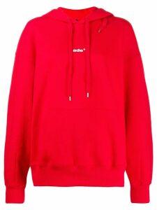 Ader printed logo hoodie - Red