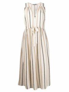 Three Graces Solaine striped midi dress - Neutrals