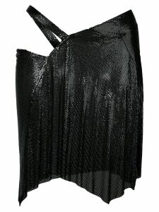 Fannie Schiavoni draped style skirt - Black