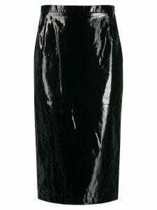 Nº21 patent pencil skirt - Black