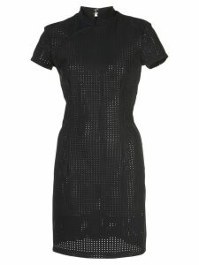 Marcia perforated fitted mini dress - Black