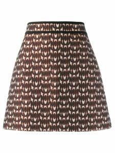 Miu Miu jacquard logo skirt - Black