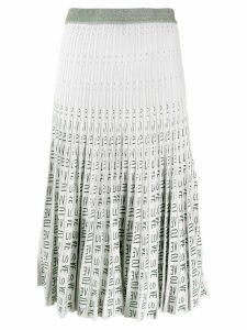 Baum Und Pferdgarten pleated love midi skirt - White