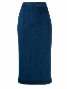 McQ Alexander McQueen denim pencil skirt - Blue