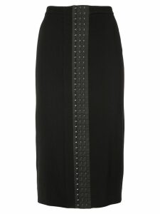 Mugler over the knee skirt - Black