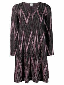 M Missoni zig-zag lurex knit dress - Pink