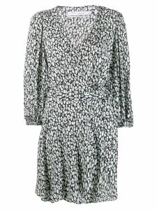 Iro printed wrap dress - Black