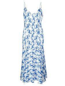 Caroline Constas printed slip dress - Blue