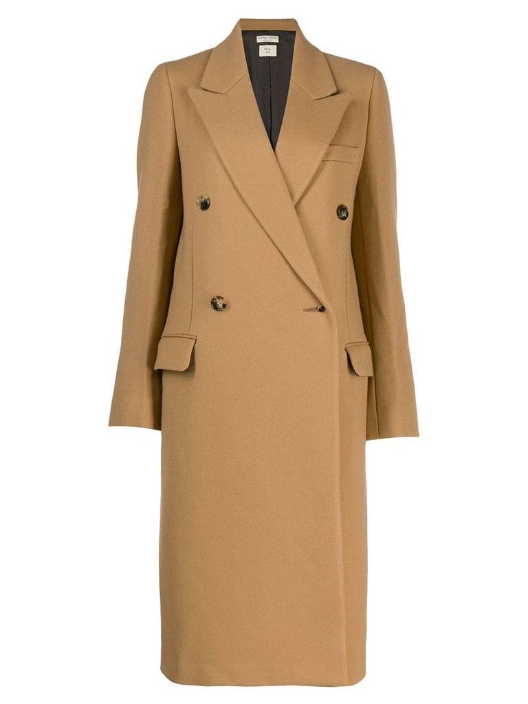 Bottega Veneta classic double breasted coat - Neutrals