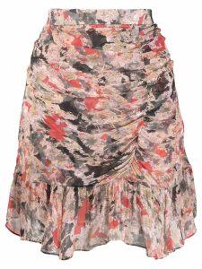 Iro print skirt - Red