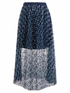 Pinko all-over logo skirt - Blue
