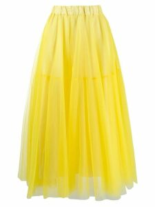 P.A.R.O.S.H. tulle tiered skirt - Yellow