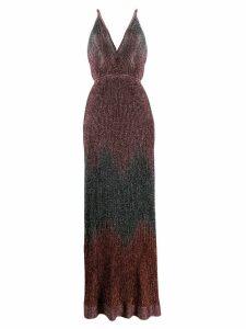 M Missoni metallic knitted long dress - Pink