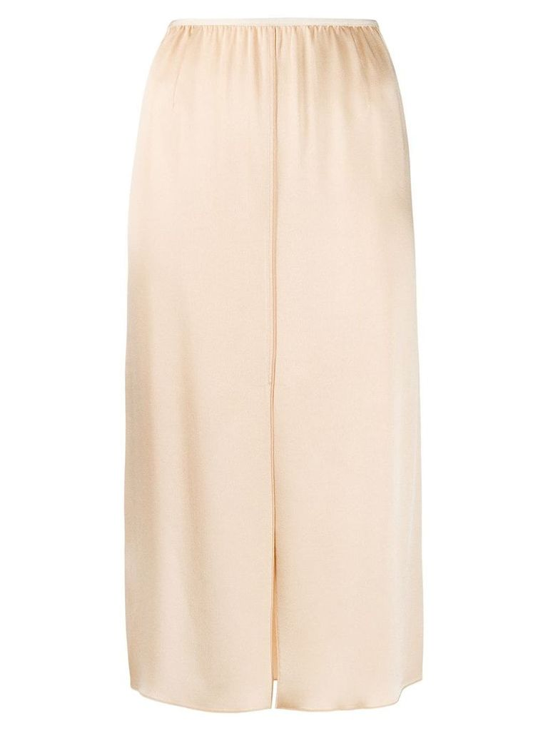 Forte Forte high-waist slit-detail skirt - Neutrals