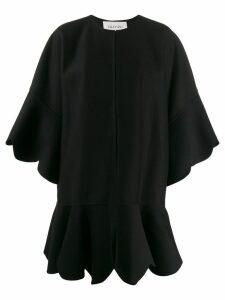 Valentino scalloped edge cape - Black