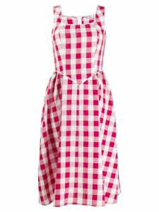 Batsheva gingham day dress - Red