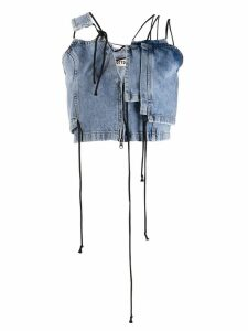 Ottolinger asymmetric denim top - Blue
