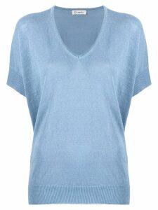 Peserico V neck knit top - Blue