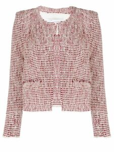 Iro two-tone knit jacket - Red