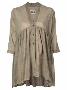 Uma Wang draped shirt - Grey