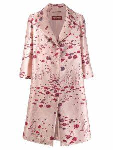 Max Mara floral jacquard coat - Pink