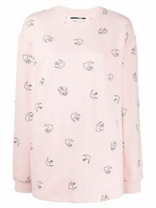McQ Alexander McQueen bird print sweater - Pink