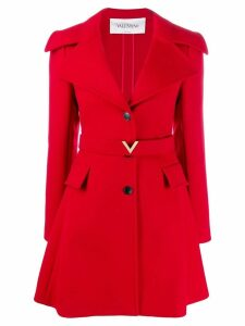 Valentino V logo belt coat - Red