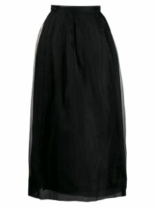 Jourden organza pleated skirt - Black
